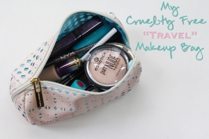 "My Cruelty Free ""Travel"" Makeup Bag!"