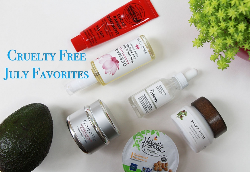 Cruelty Free July Favorites 2017 – Lots of Skincare